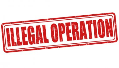 Illegal operation stamp