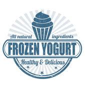 Fotografie Frozen Joghurt-Stempel