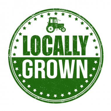 Locally grown stamp