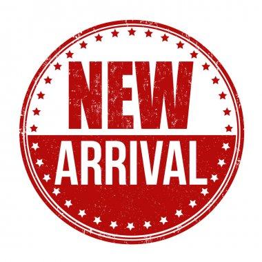 New arrival grunge rubber stamp on white, vector illustration stock vector