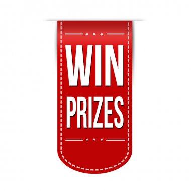 Win prizes banner design