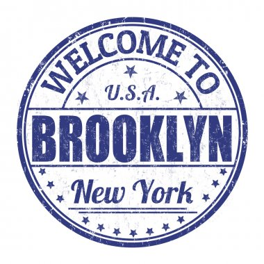 Welcome to Brooklyn stamp