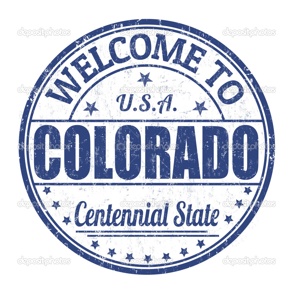 Welcome To Colorado Stamp Stock Vector
