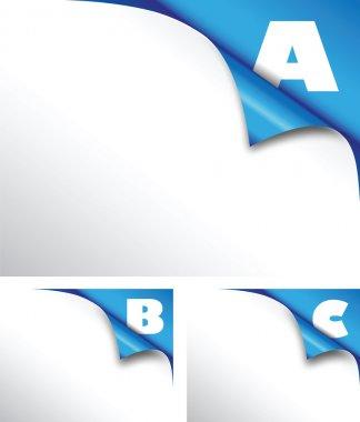 Abc blue paper fold