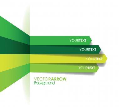 Green arrow line background clip art vector