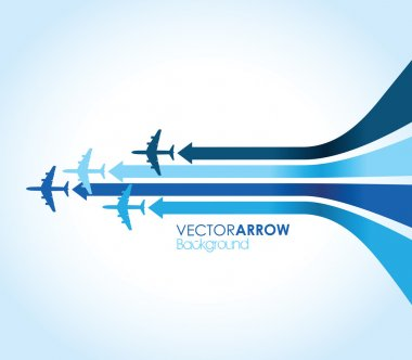 Four blue airplanes stock vector