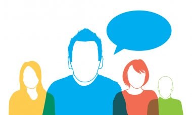 Printa set of four people silhouettes