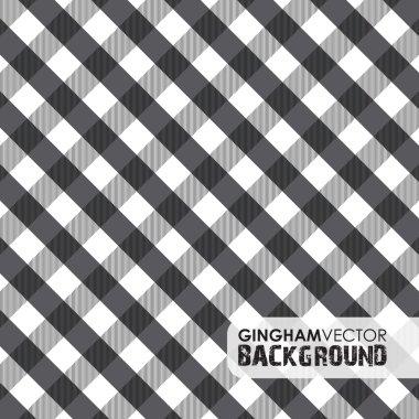 Black gingham background