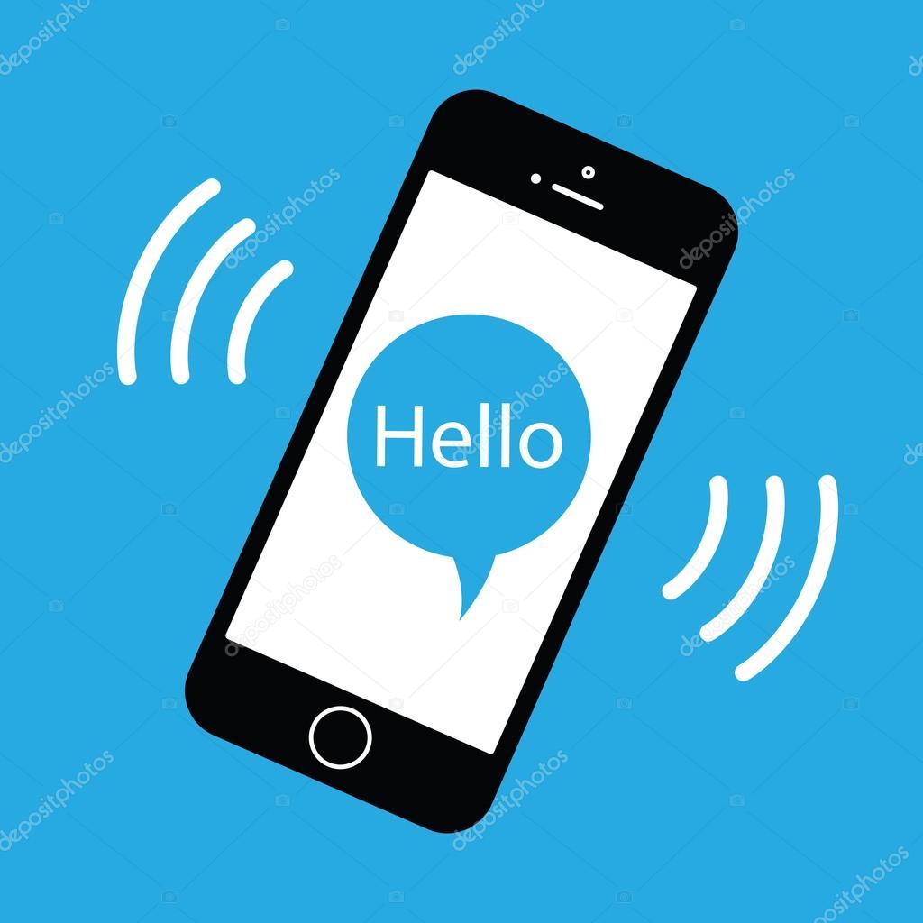 Teléfono móvil sonando — Archivo Imágenes Vectoriales