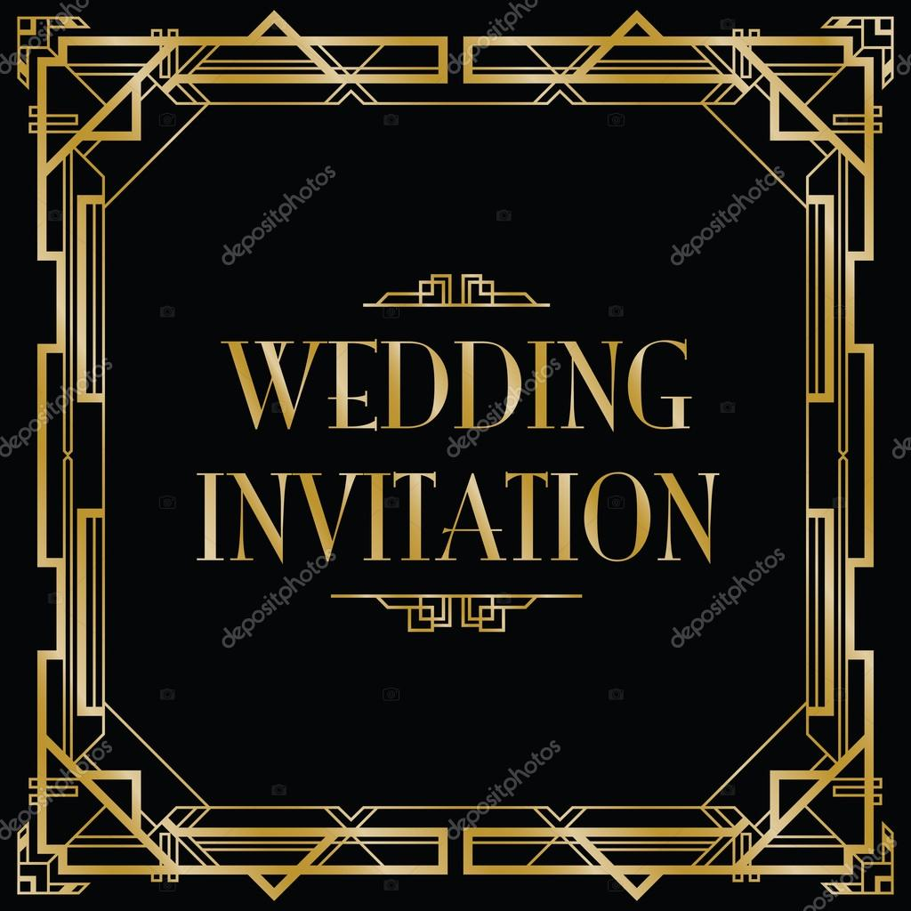 Gatsby art deco wedding invite stock vector jameschipper 51217865 gatsby art deco wedding invite stock vector stopboris Image collections