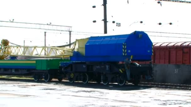 Přesun stavební vlak