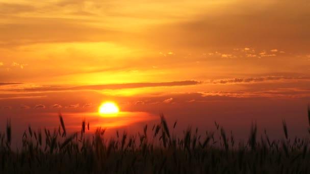 západ slunce v obci