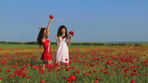 ženy mezi makovými květy
