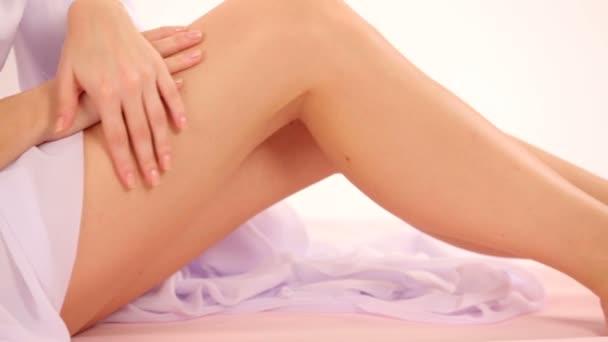 detail na krásné nohy ženy