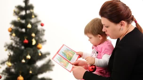 matka a dítě cristmas strom