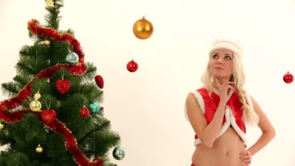 Symbols of Christmas - tree, decorations, Santa and presents. Symbols of Christmas.