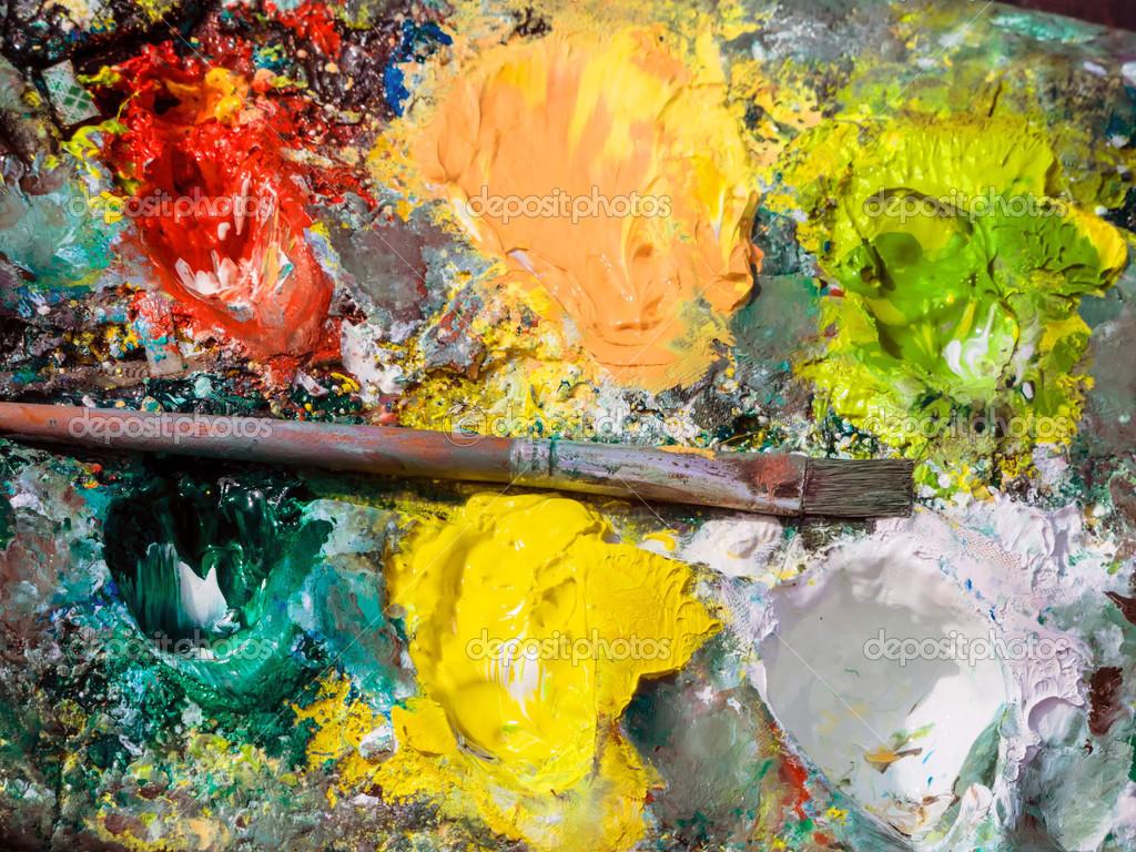 Risultati immagini per un pittore e la sua tavolozza