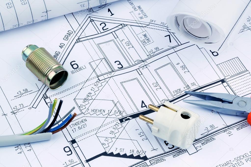 Entwurf für ein Haus. elektrische — Stockfoto © ginasanders #44155929