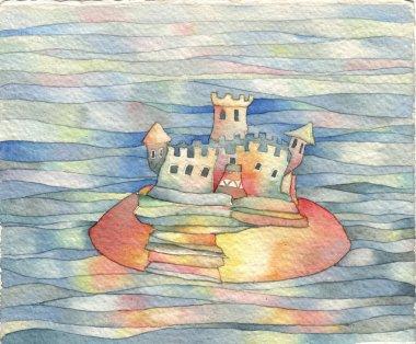 Castle in lake