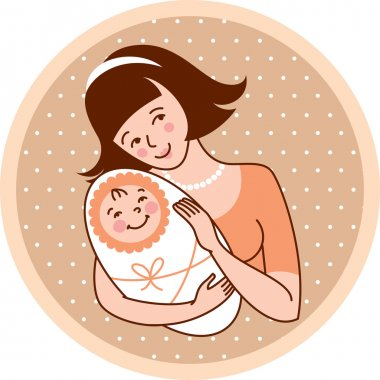 Mother and baby - Illustration
