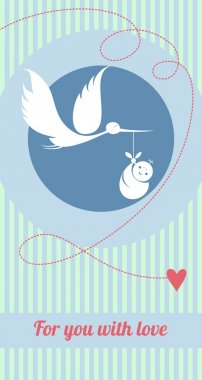 Baby Boy Birth Announcement Card