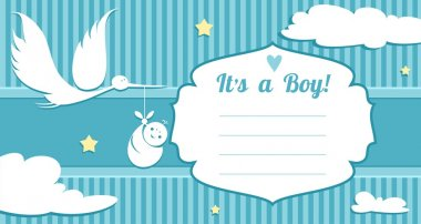 Baby Birth Announcement Card (Family LIfe Series)