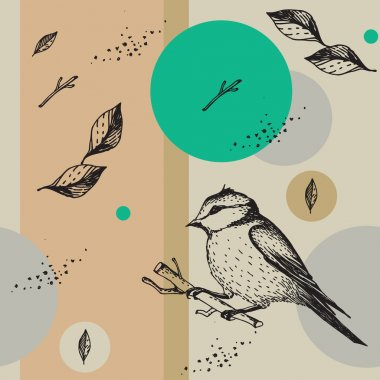 Seamless vector texture with birds