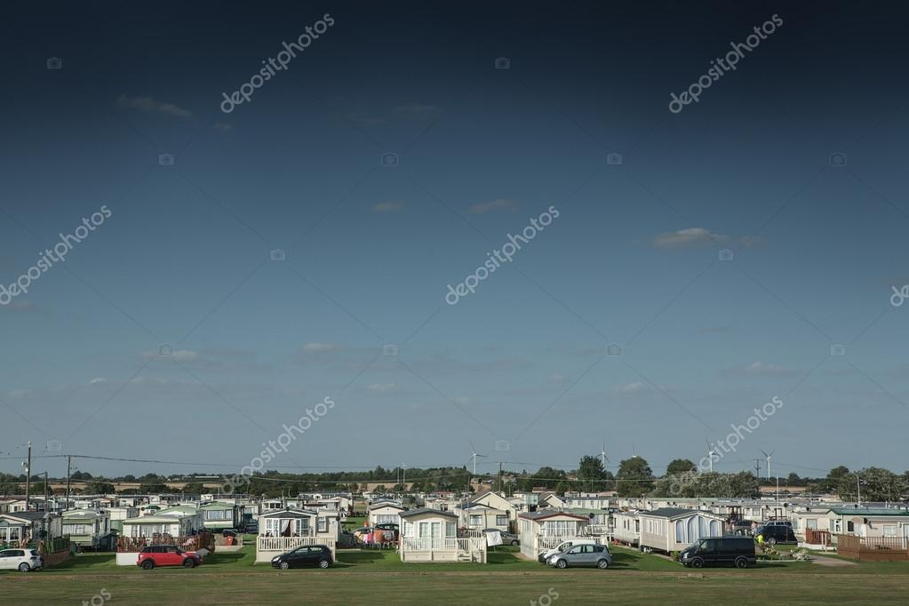 View of caravan park at St Osyth, England
