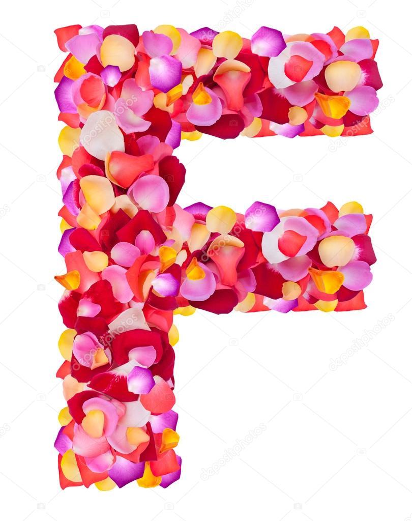 f Carta de pétalos color de rosa — Foto de stock © Byelikova #29392213
