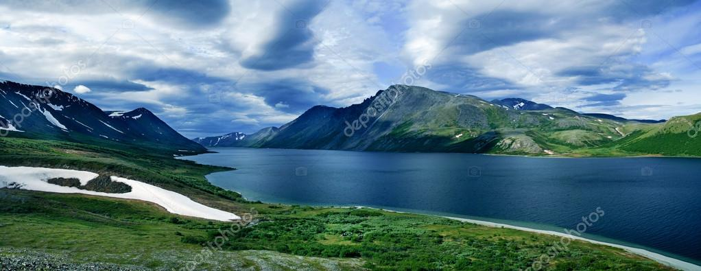 Landscape of Polar Ural mountains