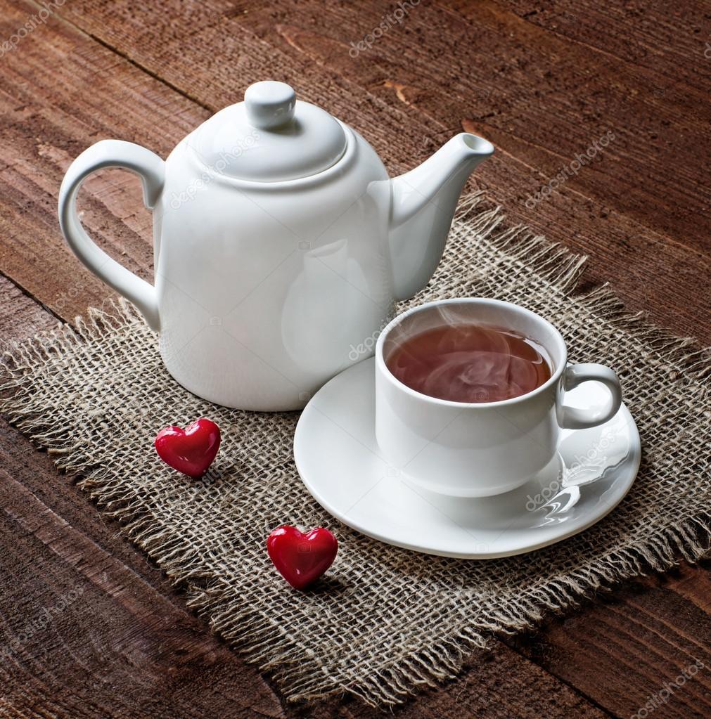 гиф с чашкой чая