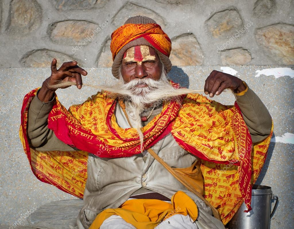 Sadhu with traditional painted face