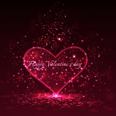 Valentine's day background. Vector clip art vector