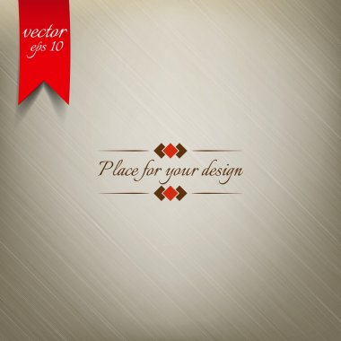 Light Brown Fabric Texture. Vector