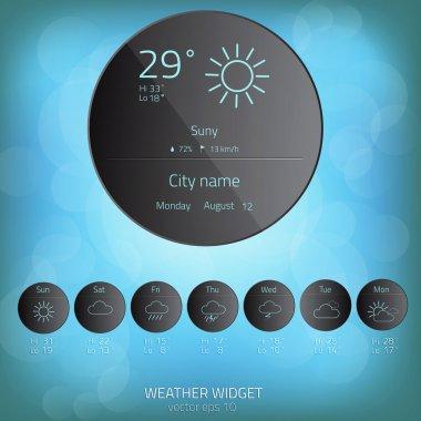 Weather widget template. Vector clip art vector