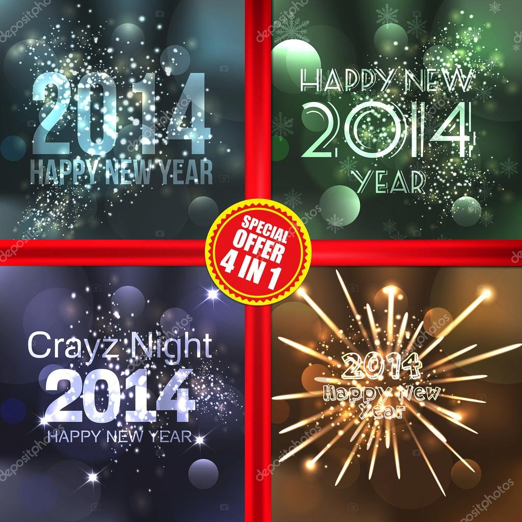 New year 2014 eeting cards vector stock vector darkovujic new year 2014 eeting cards vector vector by darkovujic m4hsunfo