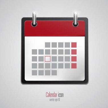 Calendar icon. Vector
