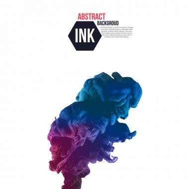 Ink swirling in water