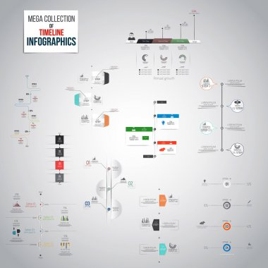 Mega Collection of Timeline Infographics objects