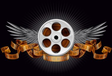 Film reel, EPS 10, file has layers stock vector