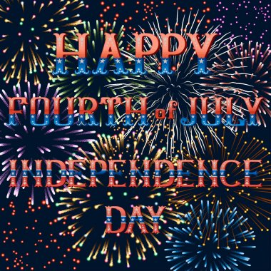 Greeting card with fireworks