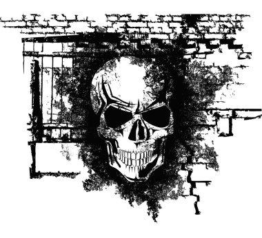Human Halloween Skull