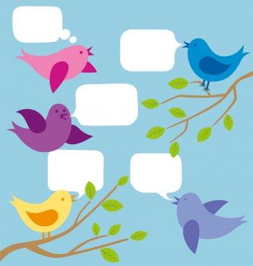 Vector Card With Birds