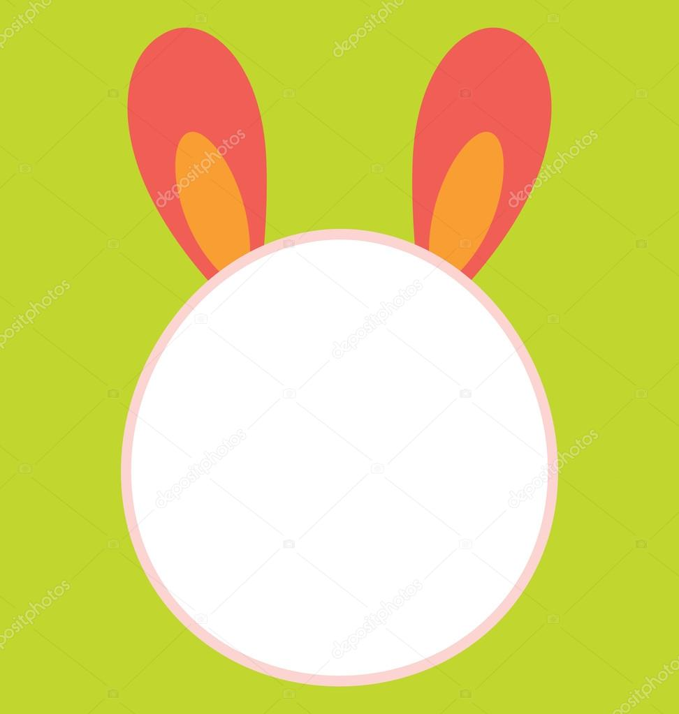 Bunny Head Template — Stock Vector © zhou77 #20243275