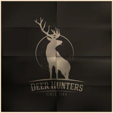 Deer buck on fool moon badge