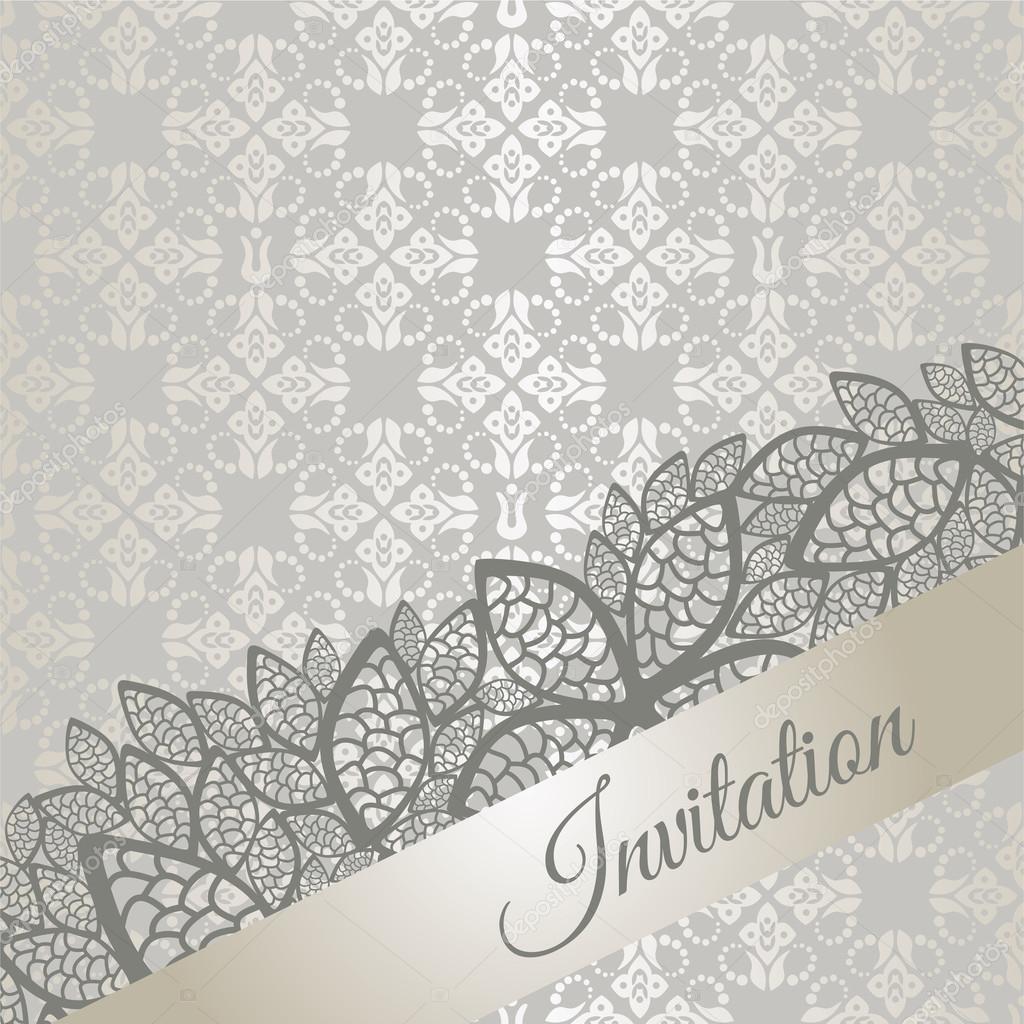 Silver special occasion invitation card stock vector linas silver special occasion invitation card stock vector stopboris Choice Image
