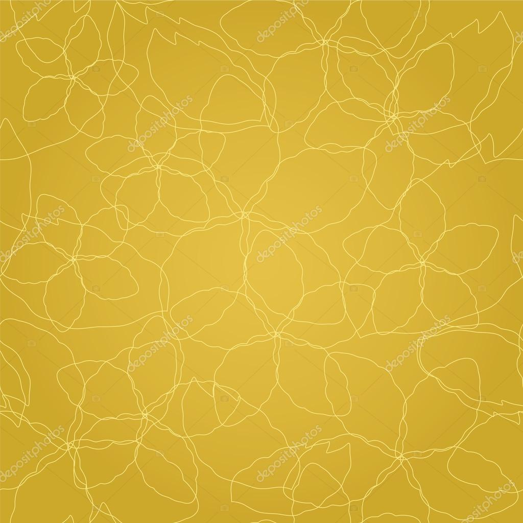 429c80f81da4 Seamless floral thin golden lines on gold wallpaper — Stock Vector ...