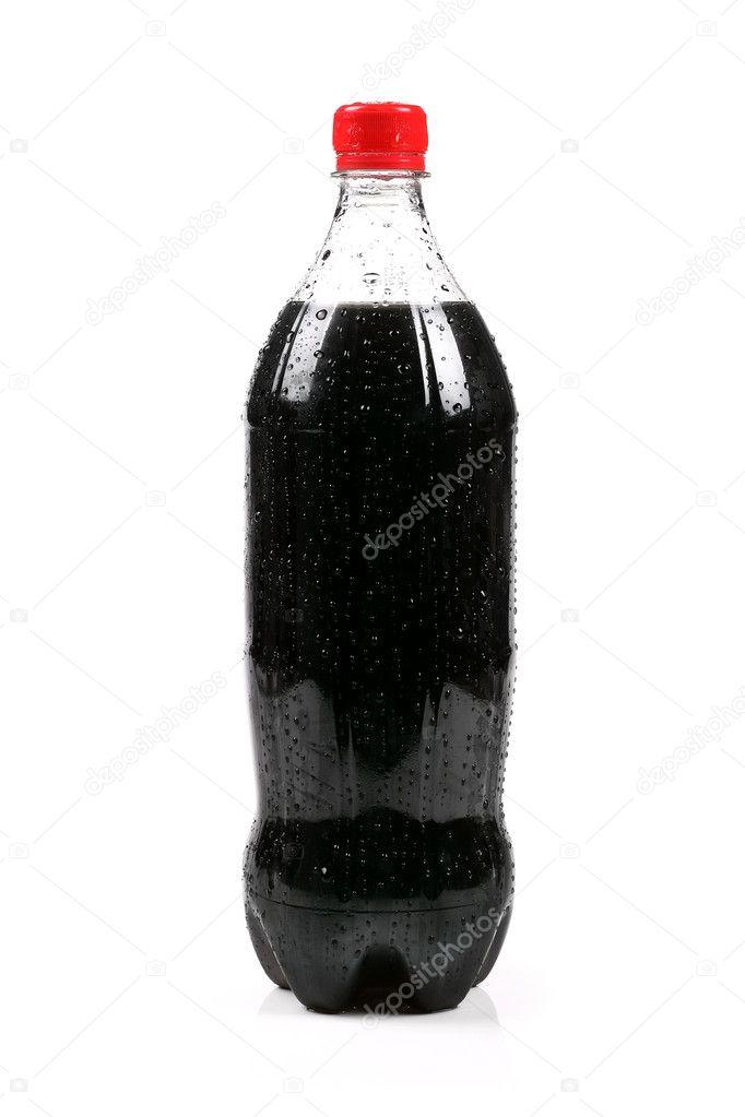 Cola bottle isolated on white background