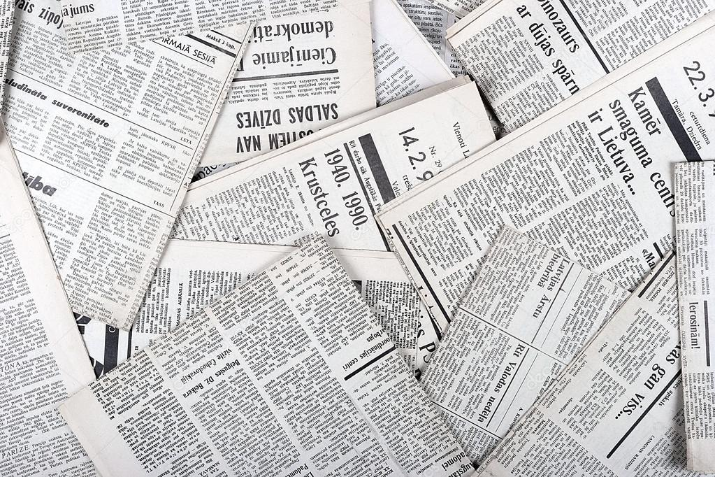 Background Of Old Vintage Newspapers  Stock Photo  Ronstik