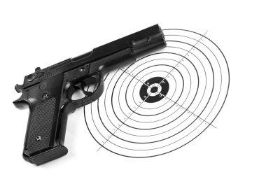 Practicing shooting stock vector